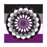 Asexual Pride Flag Colors Mandala LGBT Canvas Print