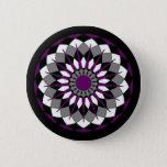 Asexual Pride Flag Colors Mandala LGBT Pinback Button