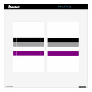Asexual Pride Flag Kindle Fire Decal
