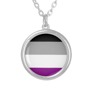 Asexual Pride Flag Silver Plated Necklace