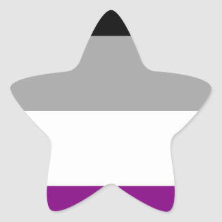 Asexual Pride Flag Star Sticker