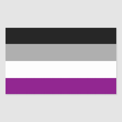 Asexual Pride Flag Rectangle Sticker