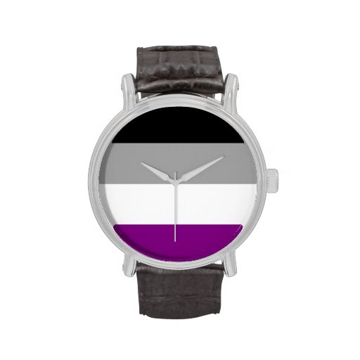 ASEXUAL PRIDE FLAG WRIST WATCHES