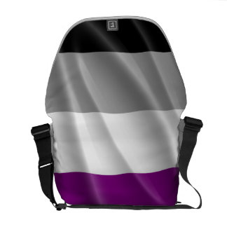 ASEXUAL PRIDE FLAG WAVY DESIGN COURIER BAGS