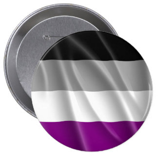 ASEXUAL PRIDE FLAG WAVY DESIGN PINBACK BUTTON