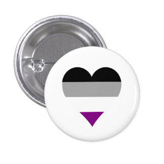 Asexual pride hearts button button