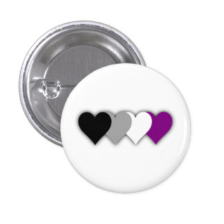 Asexual pride hearts button