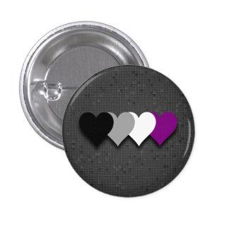 Asexual pride hearts button