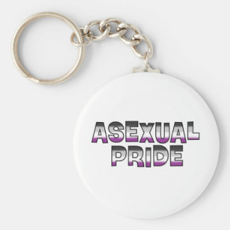 Asexual Pride Keychain