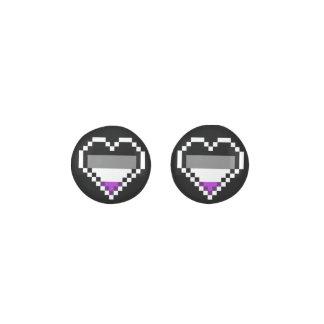Asexual pride Pixel art heart Earrings