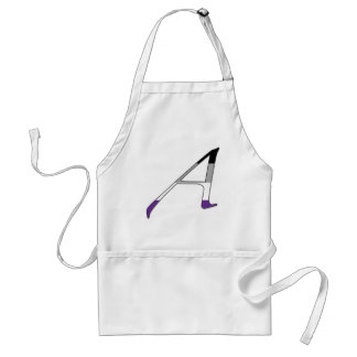"""Asexual Pride """"Scarlet"""" Letter A Adult Apron"""