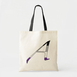 """Asexual Pride """"Scarlet"""" Letter A Tote Bags"""