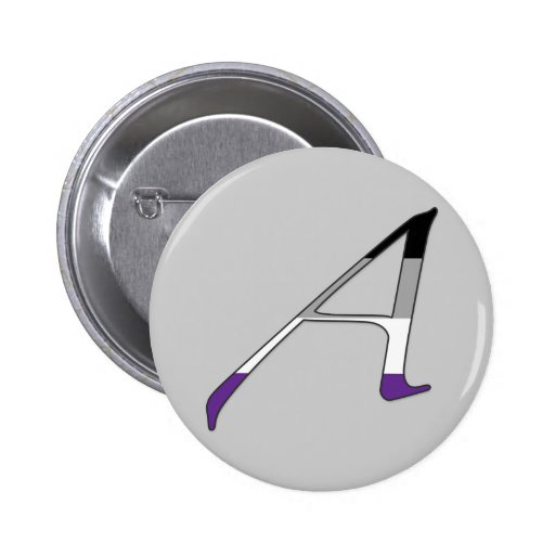 "Asexual Pride ""Scarlet"" Letter A Pinback Button"