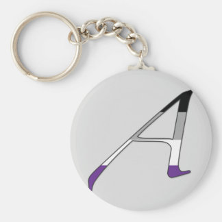 """Asexual Pride """"Scarlet"""" Letter A Key Chains"""