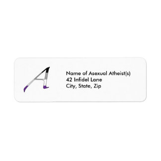 """Asexual Pride """"Scarlet"""" Letter A Labels"""