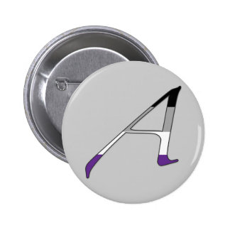 """Asexual Pride """"Scarlet"""" Letter A Pinback Button"""