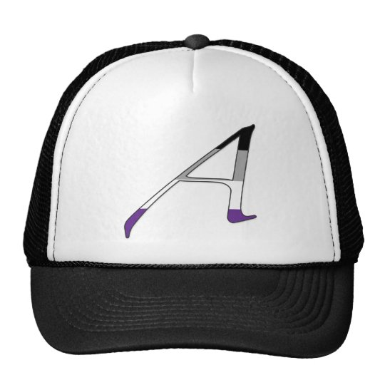 """Asexual Pride """"Scarlet"""" Letter A Trucker Hat"""