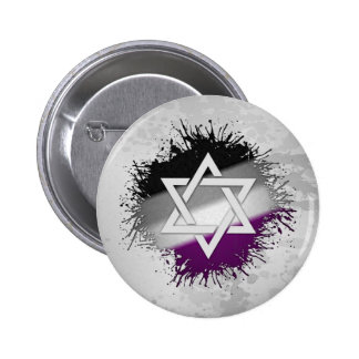 Asexual Pride Star of David Pinback Button