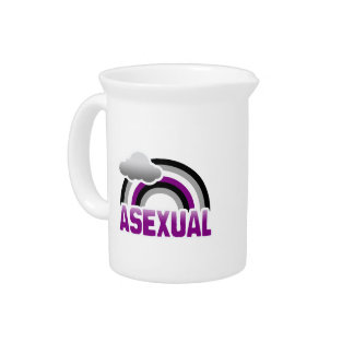 ASEXUAL RAINBOW DRINK PITCHER