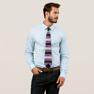 Asexual Striped Necktie