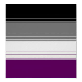 Asexual stripes poster