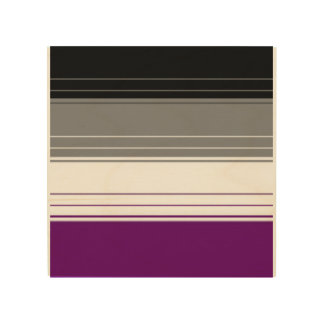 Asexual stripes wood wall decor