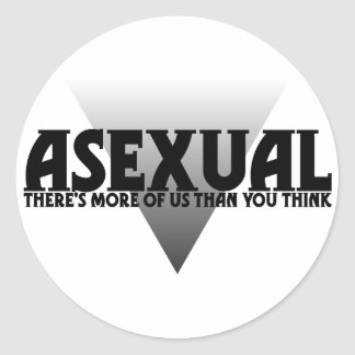 Asexual: There's More of Us Than You Think Classic Round Sticker