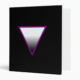 ASEXUAL TRIANGLE SYMBOL 3D 3 RING BINDERS