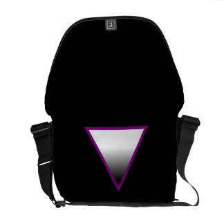 ASEXUAL TRIANGLE SYMBOL 3D COURIER BAGS