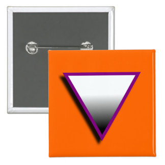 ASEXUAL TRIANGLE SYMBOL 3D PINBACK BUTTON