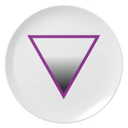 ASEXUAL TRIANGLE SYMBOL DINNER PLATES