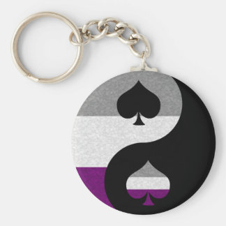 Asexual Yin and Yang Key Chain