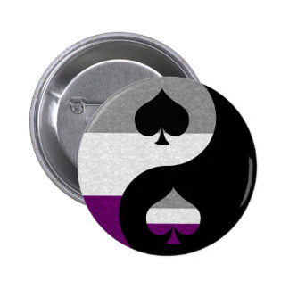 Asexual Yin and Yang Pinback Button