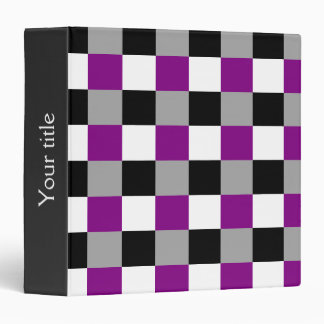 Asexuality colors checkered pattern Binder Binder