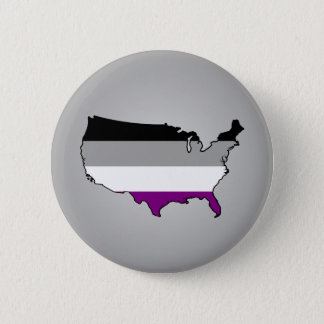 Asexuality colors checkered pattern Button
