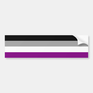 Asexuality flag Bumper Sticker