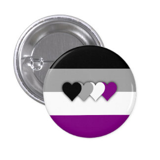 Asexuality flag button pins