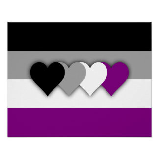 Asexuality flag Poster