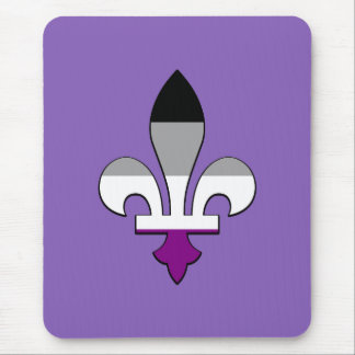 Asexuality pride fleur-de-lis mouse pad