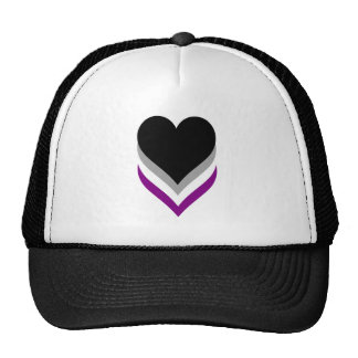 Asexuality pride hearts Trucker Hat