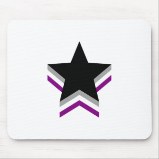 Asexuality pride stars mouse pad