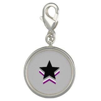 Asexuality pride stars charm bracelet