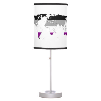 Asexuality pride world map Lamp