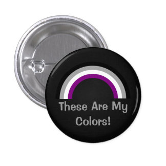 Asexuality rainbow pride Button