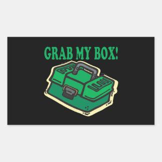 Asga mi caja pegatina rectangular
