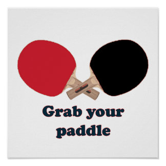 Asga su ping-pong de la paleta impresiones