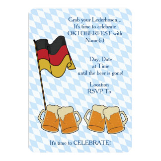 Asga sus invitaciones del fiesta de Oktoberfest de Invitación 12,7 X 17,8 Cm