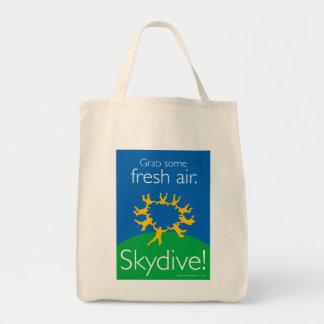 Asga un poco de aire fresco. ¡Skydive! Bolsa Tela Para La Compra