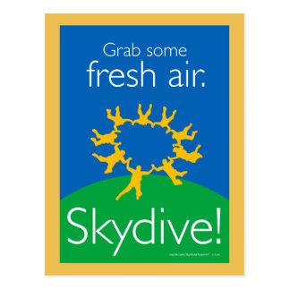 Asga un poco de aire fresco. ¡Skydive! Postal