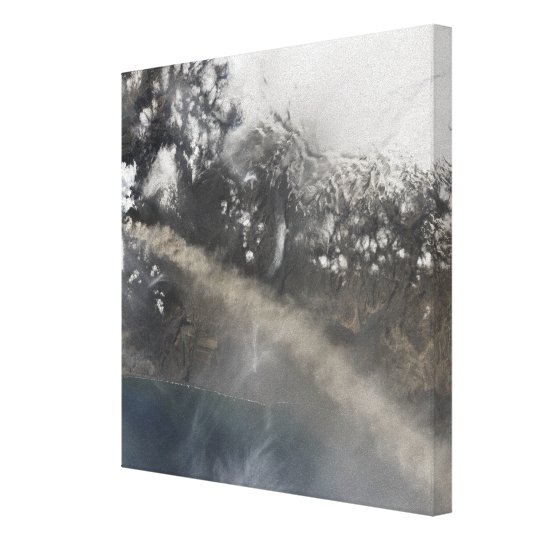 Ash and steam continue billowing canvas print